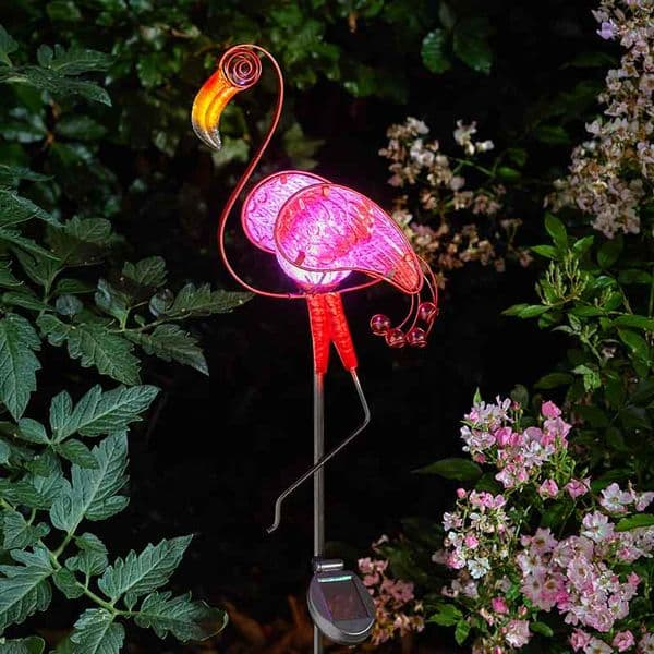 90cm Smart Garden Flamingo Stake Solar Powered LED Light