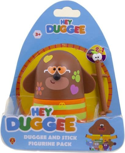 Hey Duggee Duggee and Stick Figure Pack With Duggee Rave Kids Toy