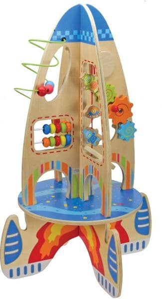 Large Wooden Toy Activity Rocket Play Cube 2ft