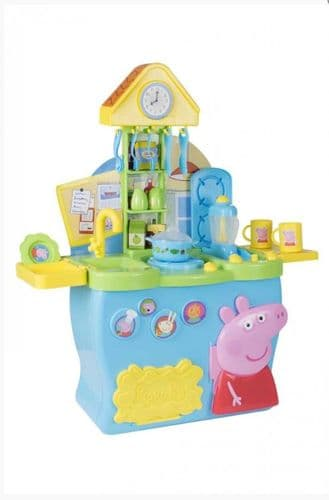 Peppa Pig Kitchen Kids Roll Play Toy with 20 Piece Accessories Set Ages 3 +