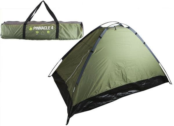 Summit Pinnacle Dome Tent 4 Person - Dark Green