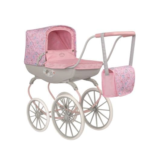 Zapf Creations Dolls Baby Annabell Carriage Pram Kids Toy Doll Vintage Pushchair Pink Ages 3 +