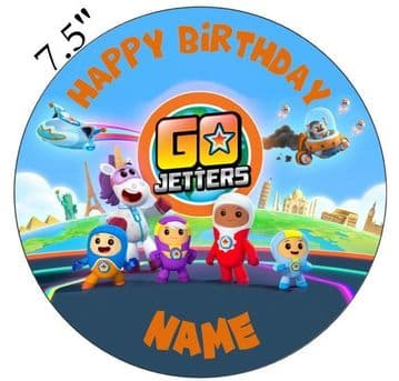 (CBeebies) Go Jetters Inspired Personalised Edible Icing Cake Topper 7.5in Precut