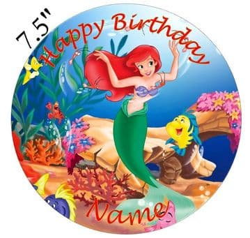 (Disney) Ariel Edible - Pre Cut Personalised Icing Topper