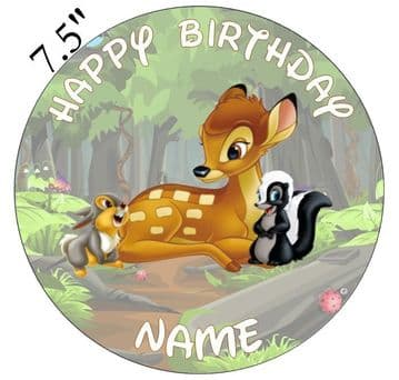 (Disney) Bambi Edible - Pre Cut Personalised Icing Topper
