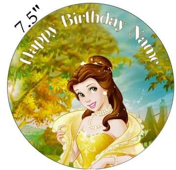 (Disney) Belle Edible - Pre Cut Personalised Icing Topper