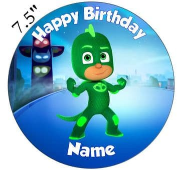 (Disney) PJ Masks (Gekko) Edible - Pre Cut Personalised Icing Topper