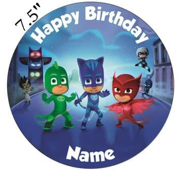 (Disney) PJ Masks (PJ1) Edible - Pre Cut Personalised Icing Topper