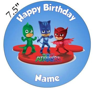 (Disney) PJ Masks (PJ2) Edible - Pre Cut Personalised Icing Topper