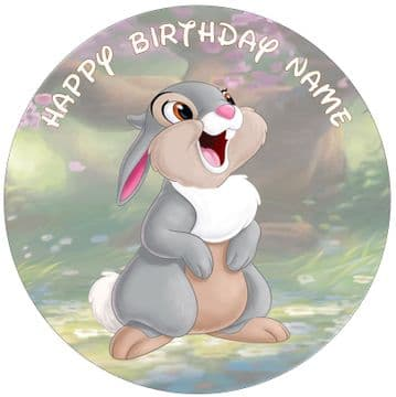 (Disney) Thumper (Bambi) - Pre Cut Personalised Icing Topper 4 Options