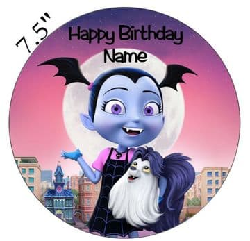 (Disney) Vampirina Inspired Personalised Edible Icing Cake Topper 7.5in Precut