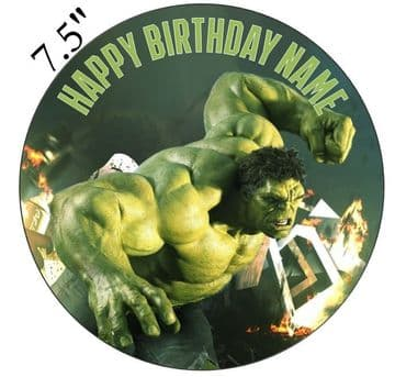 (Marvel) Hulk Edible - Pre Cut Personalised Icing Topper