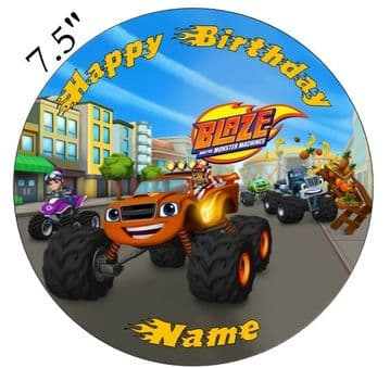 (Nickelodeon) Blaze and the Monster Machines Edible - Pre Cut Personalised Icing Topper