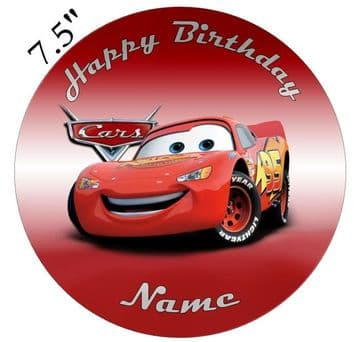(Pixar) Cars Lightning McQueen Edible - Pre Cut Personalised Icing Topper
