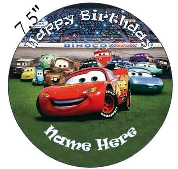 (Pixar) Cars Trackside Edible - Pre Cut Personalised Icing Topper