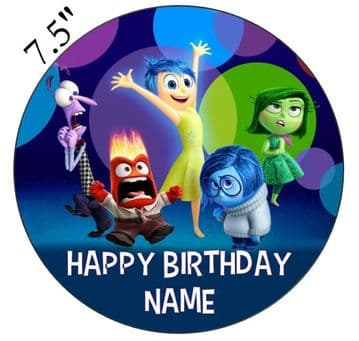 (Pixar) Inside Out Edible - Pre Cut Personalised Icing Topper
