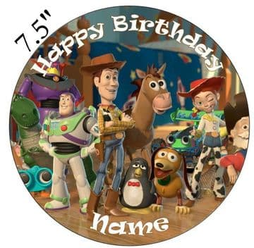 (Pixar) Toy Story Full Crew Edible - Pre Cut Personalised Icing Topper