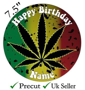 Adult Funny - Weed Hash Skunk Adult Themed Edible - Pre Cut Personalised Icing Topper