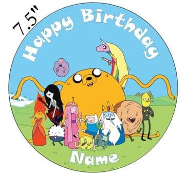 Adventure Time Edible - Pre Cut Personalised Icing Topper