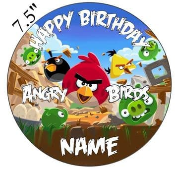 Angry Birds Edible - Pre Cut Personalised Icing Topper