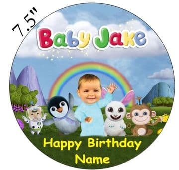 Baby Jake Edible - Pre Cut Personalised Icing Topper