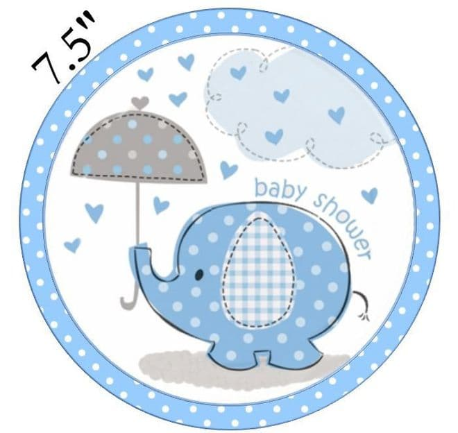 Baby Shower (Boy) Edible - Pre Cut Icing Topper