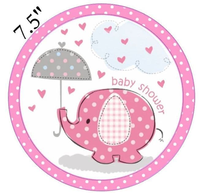 Baby Shower (Girl) Edible - Pre Cut Icing Topper