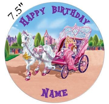 Barbie Princess Edible - Pre Cut Personalised Icing Topper