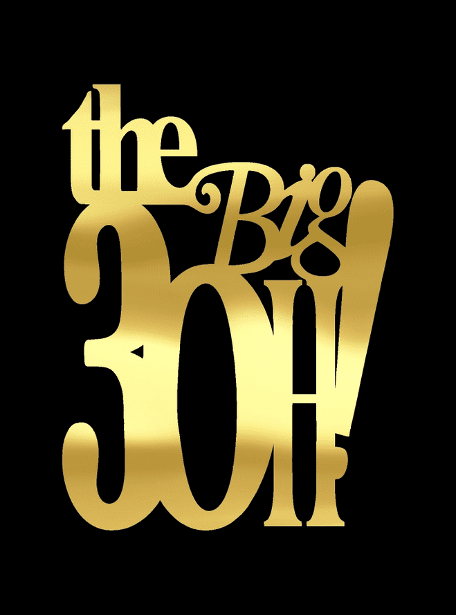 Birthday The Big 4oh! 5oh! 6oh!  Gold Foil Card Cake Pick Topper Machine Cut