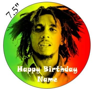 Bob Marley Edible - Pre Cut Personalised Icing Topper