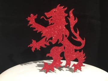 Boro Football Dragon Logo Red Glitter Sparkly Cake Topper Decoration Laser Cut