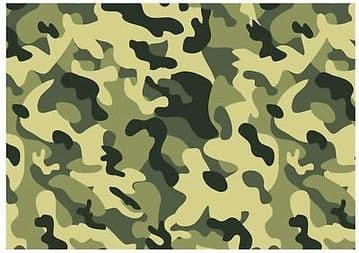 Camouflage Edible A4 Icing Sheets ** FREE SHIPPING ** Cake/Board Decoration