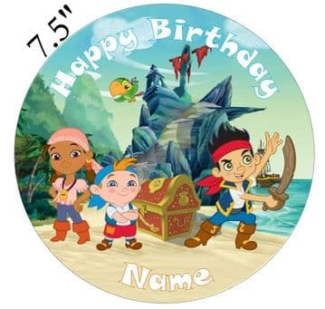 Captain Jake and the Never Land Pirates Edible - Pre Cut Personalised Icing Topper