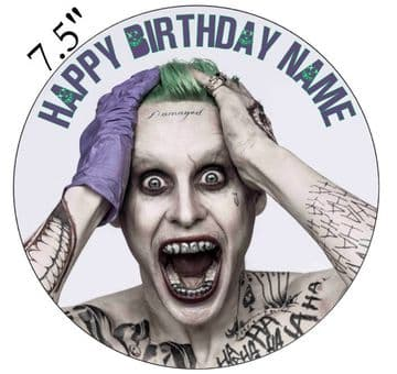 DC Comics (Suicide Squad) The Joker Edible - Pre Cut Personalised Icing Topper