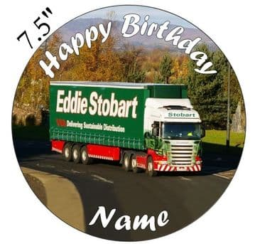 Eddie Stobart Truck Edible - Pre Cut Personalised Icing Topper