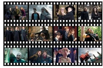 Harry Potter Film Strip Edible Icing Ribbon Precut