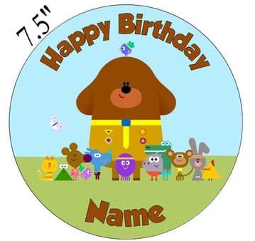 Hey Duggee Edible - Pre Cut Personalised Icing Topper