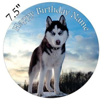 Husky (Dog) Edible - Pre Cut Personalised Icing Topper