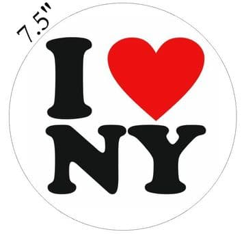 I Love New York Edible - Pre Cut Personalised Icing Topper