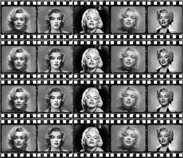 Marilyn Monroe (Film Strip)  Edible Icing Ribbon Cake Decoration