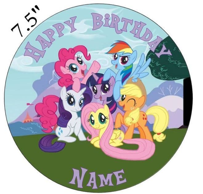 My Little Pony Edible - Pre Cut Personalised Icing Topper MLP2