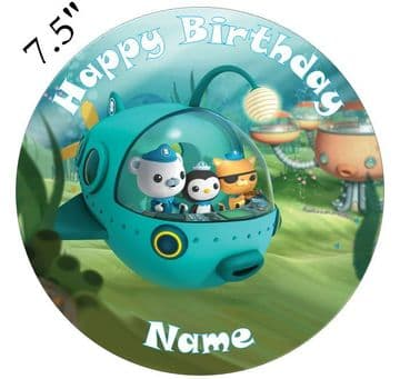 Octonauts Captain Barnacles And Crew Edible - Pre Cut Personalised Icing Topper OC1