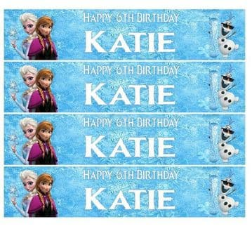 Personalised Disney Frozen Icing Ribbon Cake Decoration Decor Plus 4 Strips