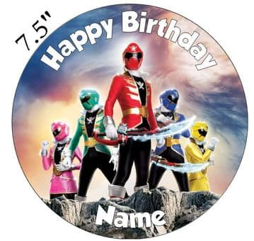 Power ranger Pirate Edible - Pre Cut Personalised Icing Topper