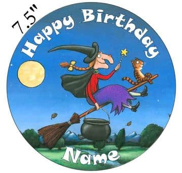 Room on the Broom Edible - Pre Cut Personalised Icing Topper