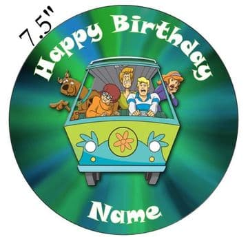 Scooby Doo Mystery Machine Edible - Pre Cut Personalised Icing Topper