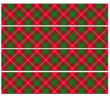 Tartan Edible Icing Ribbon For Cakes