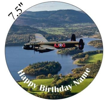 The Avro Lancaster Bomber Over Keswick (UK) Edible - Pre Cut Personalised Icing Topper