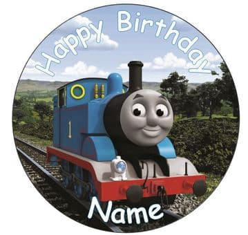 Thomas The Tank Engine Edible - Pre Cut Personalised Icing Topper