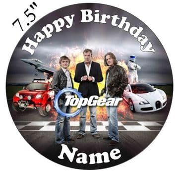 Top Gear (BBC Original 3 Cast) Edible - Pre Cut Personalised Icing Topper